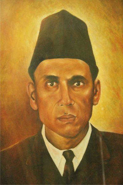 Lukisan Potret H. Qasad Mansur, Penggagas berdirinya Pondok Pesantren Daar el-Qolam